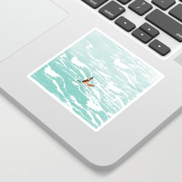 Out on the waves Sticker