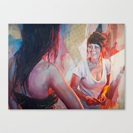 """a conversation"" Canvas Print"