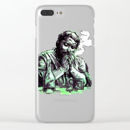 Bud Spencer, the Cigar and the Bottle Clear iPhone Case