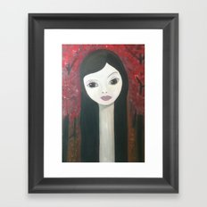 in rose wood Framed Art Print