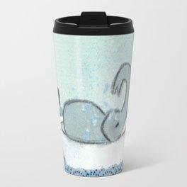 Elephant Takes A Bath Travel Mug