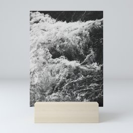 Bruarfoss in Iceland black white Mini Art Print