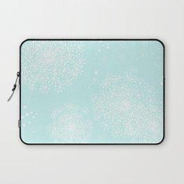 DANDY SNOWFLAKE AQUA Laptop Sleeve