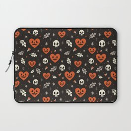 I Heart Halloween Pattern (Black) Laptop Sleeve