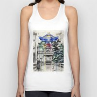 spirited away Tank Tops featuring Spirited Away by Sandra Ink