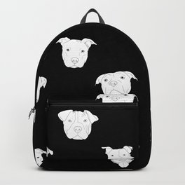 Black pit bull love Backpack