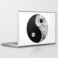 yin yang Laptop & iPad Skins featuring yin yang by martiirod