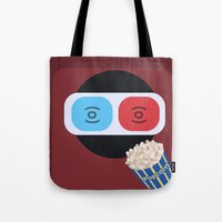 cinema Tote Bags featuring Cinema by Thomas Official
