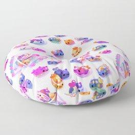 Jelly bean sea slug Floor Pillow