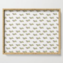 Funny Shark Drawing Pattern Serving Tray