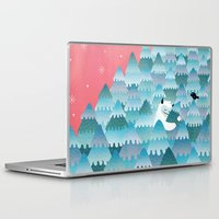 outdoor Laptop & iPad Skins featuring Tree Hugger by littleclyde