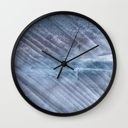 Gray Blue blurred wash drawing Wall Clock