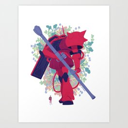 Char's Zaku II Art Print
