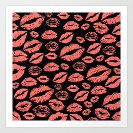 Lip 25 Living Coral Art Print