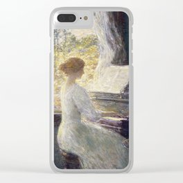 Childe Hassam - Roses In A Vase Clear iPhone Case