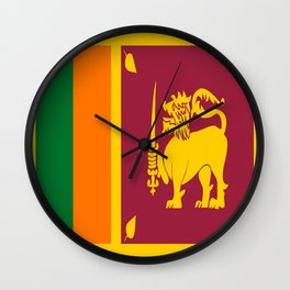 Flag of sri Lanka -ceylon,India, Asia,Sinhalese, Tamil,Pali,Buddhist,hindouist,Colombo,Moratuwa,tea Wall Clock