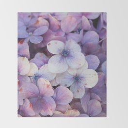 Blossom Purple Throw Blanket