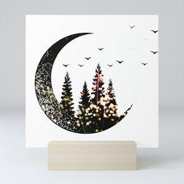 Half Moon forest Mini Art Print