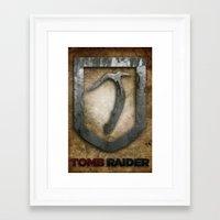 tomb raider Framed Art Prints featuring Tomb Raider by Liquidsugar