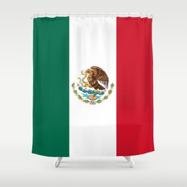 Flag of Mexico - Authentic Scale and Color (HD image) Shower Curtain