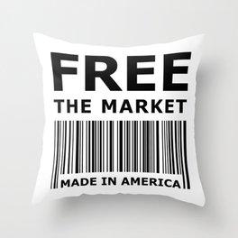 Free The Market Throw Pillow
