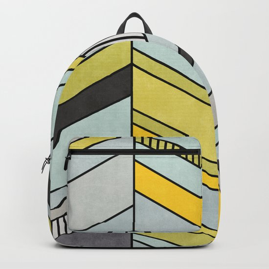 Abstract chevron pattern Backpack
