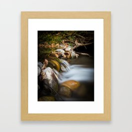 Autumn on Big Chico Creek Framed Art Print