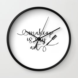 Mascara Makeup Makeup Print Vanity Print Bathroom Art Modern Home Decor Gift Women Black mascara Wall Clock