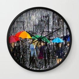 Rainy Day Reflecting Wall Clock