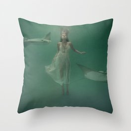 Stingray Throw Pillow