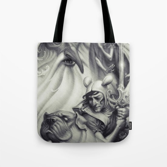 Another Castle :: Duotone Print Tote Bag