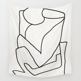 Abstract line art 2 Wall Tapestry