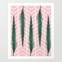 The Teal Feather Art Print