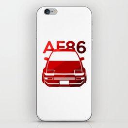 Toyota AE86 Hachi Roku - classic red - iPhone Skin
