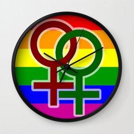 LGBT Lesbian Wall Clock