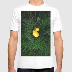 Duck land White Mens Fitted Tee MEDIUM