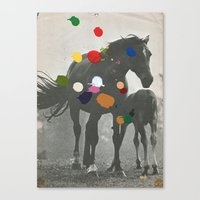pony Canvas Prints featuring PONY by Beth Hoeckel