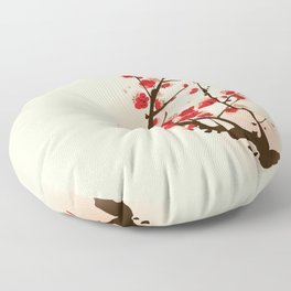 Oriental plum blossom in spring 012 Floor Pillow
