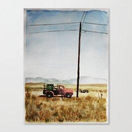 watercolor Taos Canvas Print