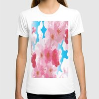 cherry blossoms T-shirts featuring Cherry Blossoms by raven's_revelation_city_graphics