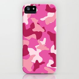 Pink camo camouflage army pattern iPhone Case