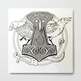 Huginn & Muninn Metal Print