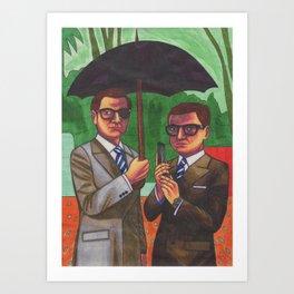 Suited Art Print