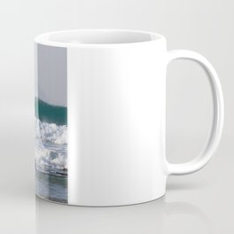 Surfers at Porthtowan Cornwall Coffee Mug