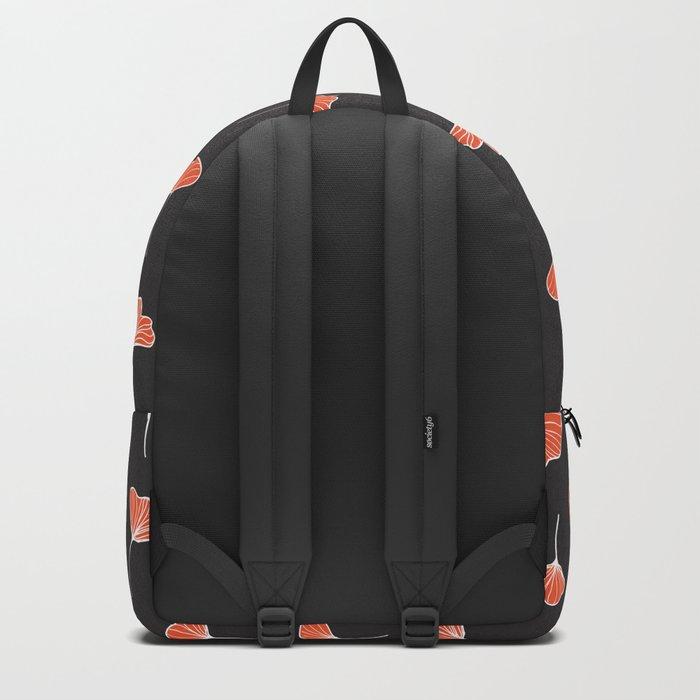 Ginkgo Biloba Leaves Pattern Dark #society6 #decor #buyart Backpack