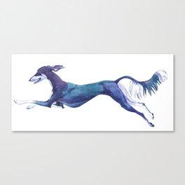 The Blue Saluki Canvas Print
