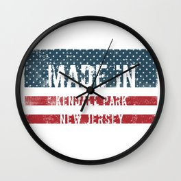Made in Kendall Park, New Jersey Wall Clock