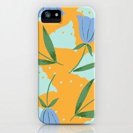 My blue flower - Gouache painted iPhone Case