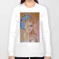 antler Long Sleeve T-shirts featuring Antler Girl by Sunshine Tangerine