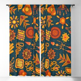 Pattern background ethnic tribal Blackout Curtain